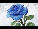 PART 2 tutorial: blue rose out of beads (Как cделать синюю розу из бисера)