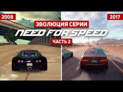 Эволюция серии игр Need For Speed #2 (1994 - 2017)