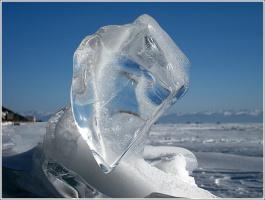Ледяной портрет, нарисованный природой