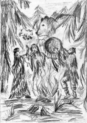 Шаманский ритуал и дух медведицы