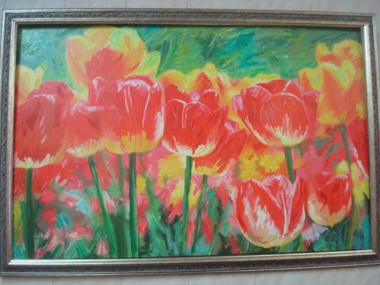 """""""Тюльпаны"""", х., м., 60х90 см."""