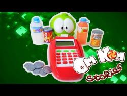 Видео для детей: Играем с Ам Нямом в магазин. Развивающее видео для детей.